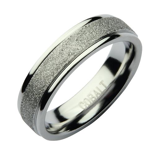 6mm Cobalt Sparkle Wedding Ring Band Cobalt Rings At