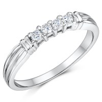 Cobalt 3mm Engagement Eternity & Wedding Band Bridal Set ...