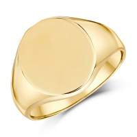 9ct Yellow Gold Men's Oval Shape Heavy weight Signet Ring ...