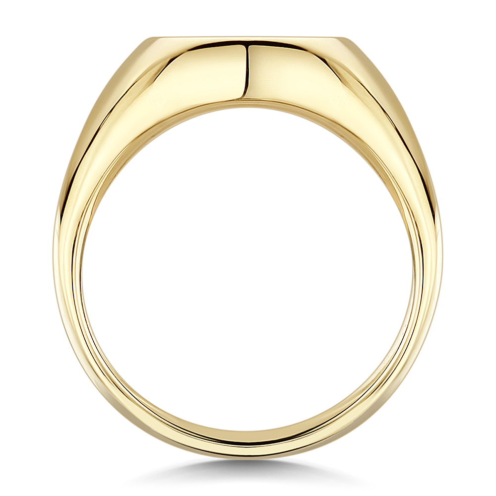 9ct Yellow Gold Mens Oval Shape Extra Heavy Weight Signet