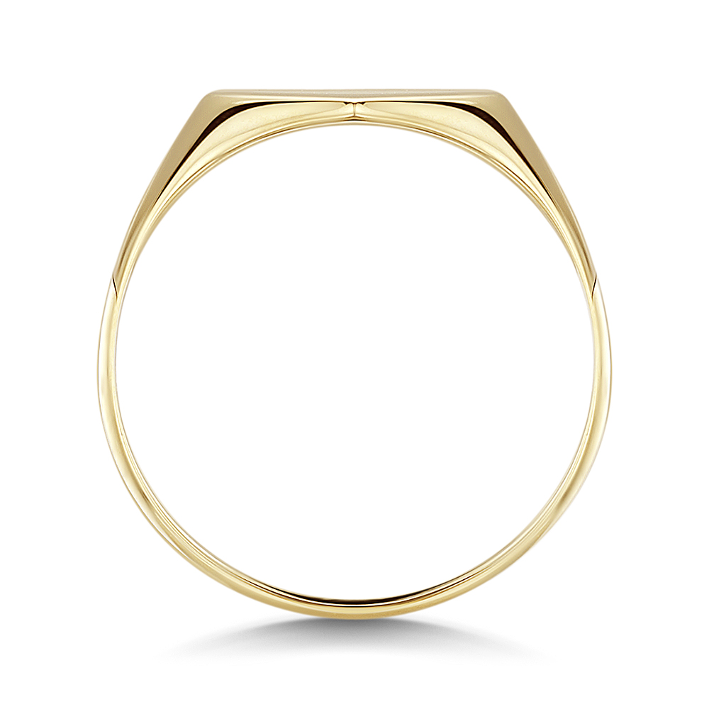 9ct Yellow Gold heart Shape Ladies Signet Ring