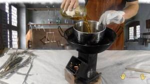 añadimos el aceite de linaza