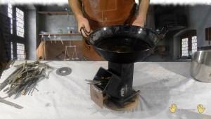 baño maría para el barniz al aceite casero