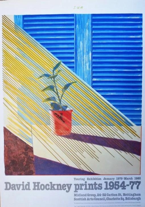 Hockney David, Cartel original realizado para la exposición itinerante de enero 1979 a marzo 1980, 97X68 cms (7)