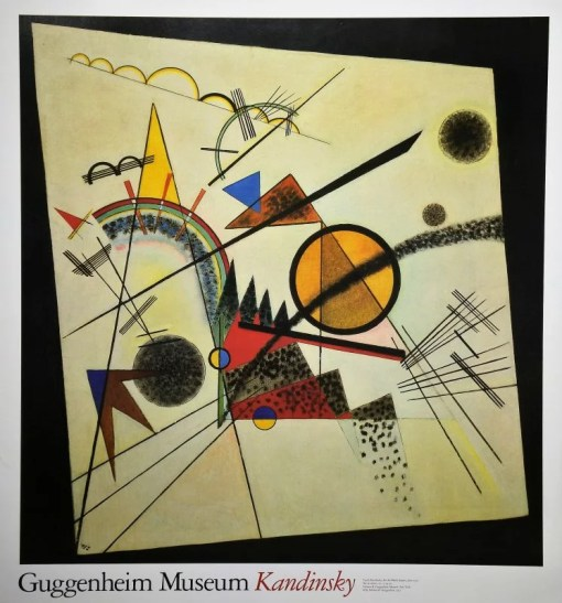 Kandinsky Vasily, In the black square, Cartel original editado por el Guggenheim Museum New York en 1992, 71×66 cms (6)