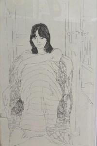 Bellver Fernando, Geli sentada, grabado aguafuerte, enmarcado, 86x61 cms. 550 (9) - copia
