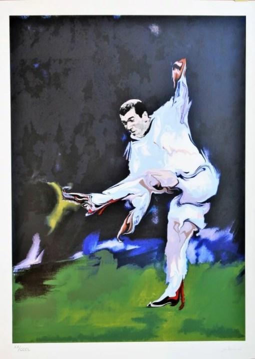Gabarrón Cristobal, Zinedine Zidane , serigrafía, serie Leyendas, edición 350 ejemplares, numerado y firmado a lápiz, 75×55 cms (3)
