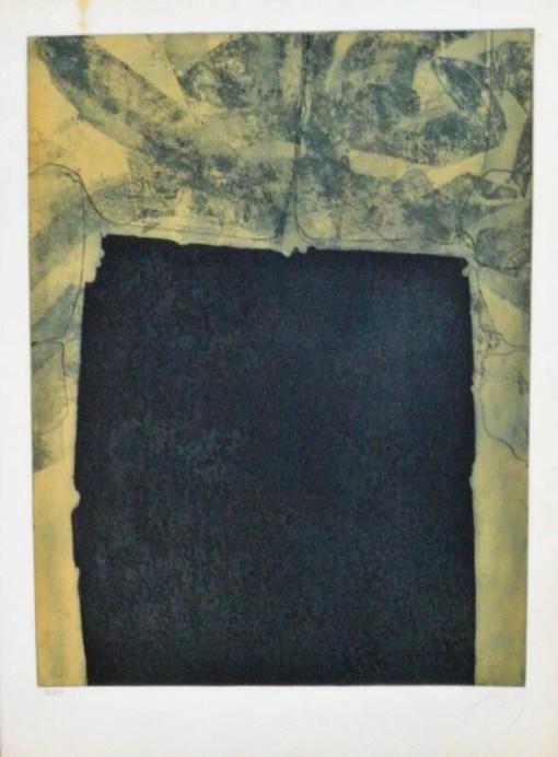 Farreras Francisco, Rectángulo oscuro, grabado aguafuerte, edición 70 ejemplares, numerado y firmado a lápiz, plancha 64×49 cms. cms. y papel 76×57 cms. (6)