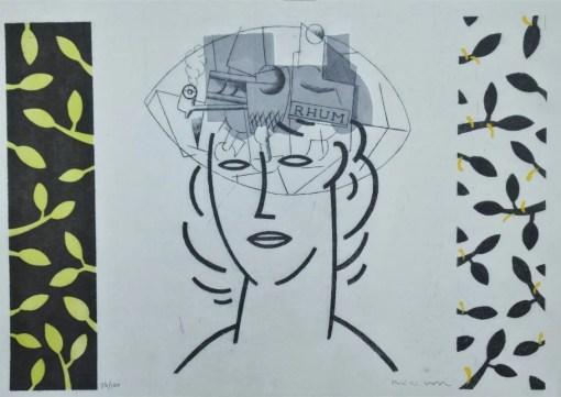 Bellver Fernando, Invierno, litografia, edición 100 ejemplares, numerado y firmado a lápiz, 35×49 cms. (14)
