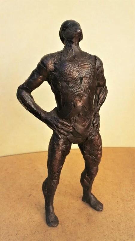 Suarez Reguera Fernando, Observador, escultura de bronce, serie de 15 ejemplares, 28x8x3 cms. 1500 (3)
