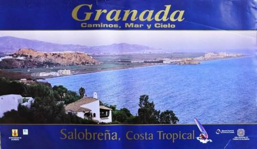 Granada, Salobreña, Costa tropical, cartel promoción turística, 57x98cms. (7) 26 – 16 señales de uso