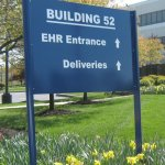 Aluminum post and panel sign with vinyl graphics - Newtown Square, PA