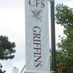 Digitally printed pole banner on brackets Exton, PA