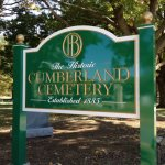 Carved HDU cemetery sign on fabricated aluminum posts- Media, PA