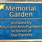 Cast aluminum plaque with painted accents - Berwyn, PA
