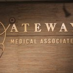 Reception Signage flat cut metal letters for a medical office in West Chester, PA and Exton, PA