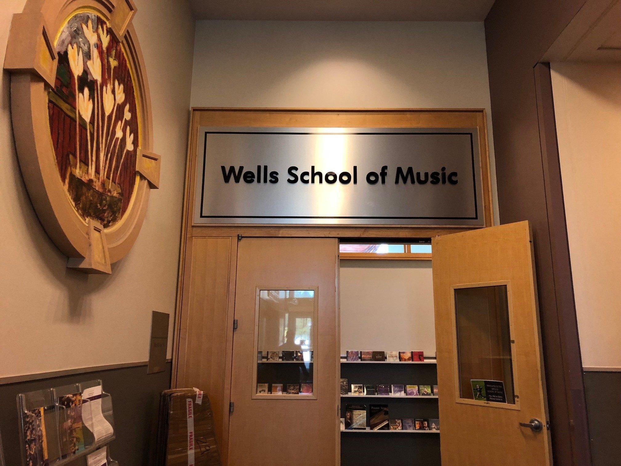 WCU Sign Wells School of Music