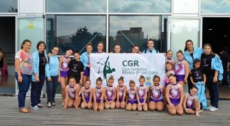 El club de Gimnasia Rítmica del Barrio de Aldaia participa en su primera competición