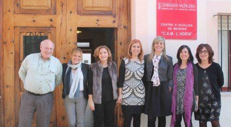 La consellera de Bienestar Social visita el centro de acogida de menores de Aldaia