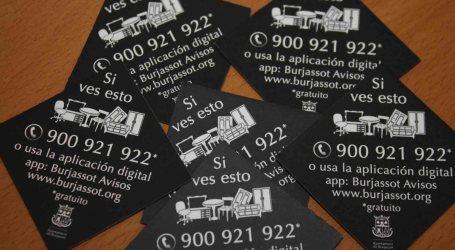 Un teléfono gratuito y una app ayudarán a mantener Burjassot limpia