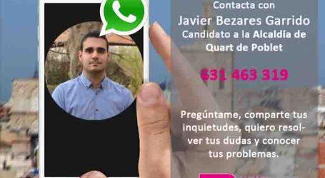 El candidato de UPyD en Quart de Poblet te atiende en el 631463319