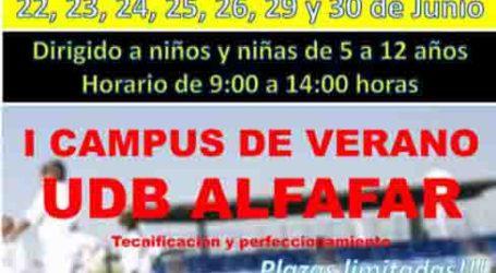 Comienza el I Campus de Verano de la Unión Deportiva de Balompié en Alfafar