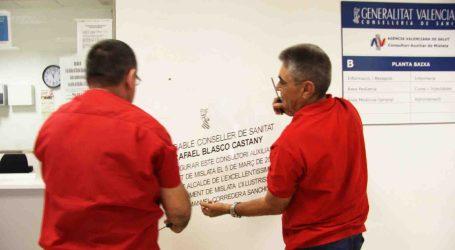 Mislata retira la placa de inauguración en la que aparecía el nombre de Rafael Blasco