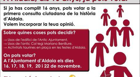 Todo listo para la consulta ciudadana en Aldaia