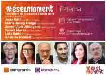Compromís per Paterna tanca demà la campanya amb un acte al Teatre Capri