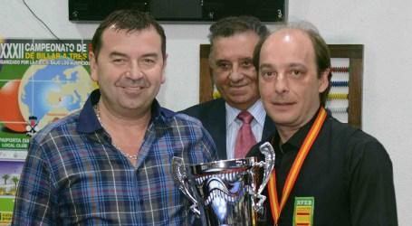 Daniel Sánchez va guanyar el Campionat d'Espanya de Billar a tres bandes celebrat a Paiporta