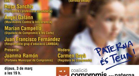 Compromís per Paterna presenta una moció per a lluitar contra l'assetjament escolar
