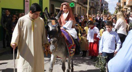Albal celebró el Domingo de Ramos representando la entrada de Jesús a Jerusalén