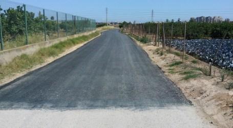 Paterna adecua y asfalta 2.840 metros de caminos rurales de su término municipal