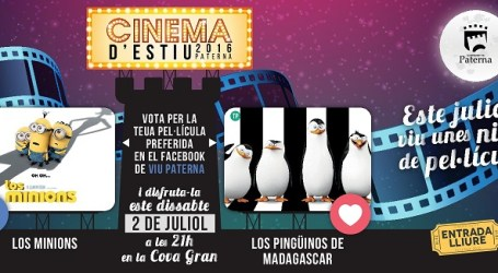 Els veïns de Paterna votaran per Facebook quines pel.licules vore al Cinema d'Estiu