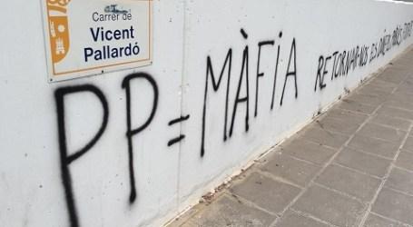 Aparecen 5 pintadas en Torrent contra el PP tras el 26J