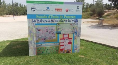 Alumnes i alumnes de la «Escola d'Estiu» de Paterna col•laboren per a crear una escultura solidària