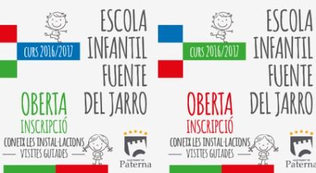 L'Escola Municipal Infantil Fuente del Jarro obrirà les seues portes el 8 de setembre