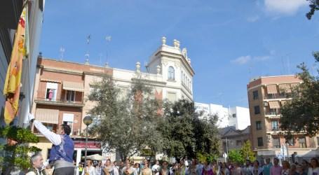 L'Agrupació de Falles Turia trasllada la Real Senyera des de Quart de Poblet a Xirivella