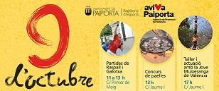 Muixerangues, pilota valenciana i concurs paelles en la celebració del 9 d'Octubre a Paiporta
