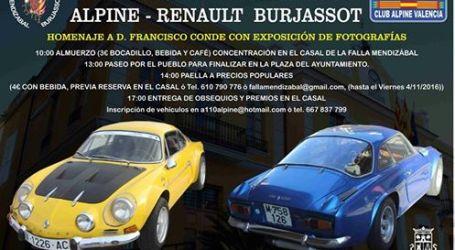 Concentración de coches clásicos Alpine-Renault en Burjassot