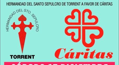 Recogida de alimentos de la Hermandad del Santo Sepulcro de Torrent para Cáritas