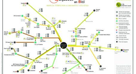 Burjassot presenta un plano de tiempo para impulsar los desplazamientos a pie y en bicicleta