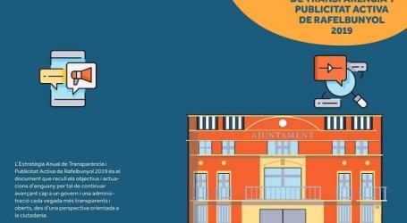 Rafelbunyol presenta su Estrategia Anual de Transparencia y Publicidad Activa
