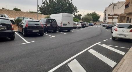 Paterna dispone de un nuevo espacio de aparcamiento con 40 plazas en la calle Federico García Lorca