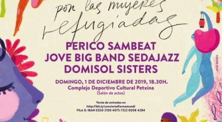 Sedajazz, Domisol Sisters y Perico Sambeat se unen en un concierto solidario por las mujeres refugiadas