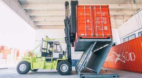 El contenedor plegable Zbox 20' de Navlandis, certificado para ser utilizado en el transporte marítimo