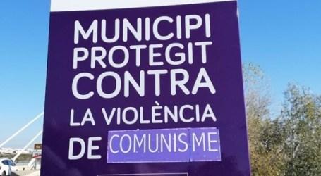 Manipulan en Manises el cartel contra la violencia de género