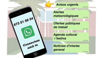 Xirivella activa hoy su servicio de Whatsapp municipal con la numeración 673 51 58 54