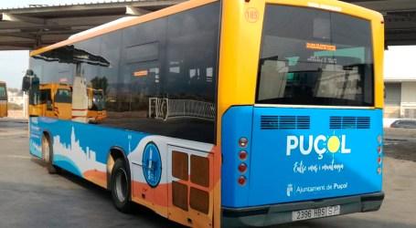 Retolat l'autobús de Puçol que circula «entre mar i muntanya»