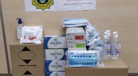 La comunitat xinesa de la Pobla de Farnals dona a la Policia Local material higiènic